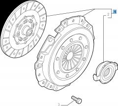 Kit embrayage (disque, plateau de pression et butée de débrayage) pour Alfa Romeo