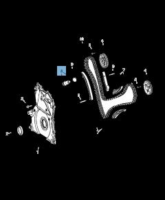 Tendeur de courroie réglable de chaîne de distribution pour Jeep