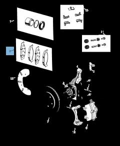 Plaquette de frein à disque avant (jeu de 4 pièces)