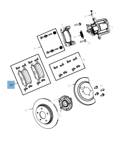 Plaquette de frein à disque arrière (jeu de 4 pièces)