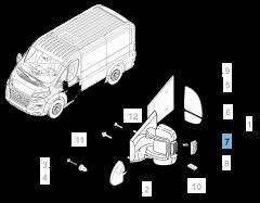 Clignotant latéral sur rétroviseur gauche pour Fiat et Fiat Professional