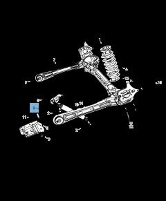 Amortisseur arrière 2 pc pour Lancia Voyager