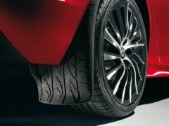 Bavettes arrière avec graphisme d'une bande de roulement pour Alfa Romeo Giulietta
