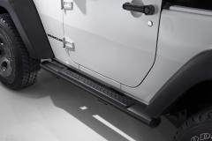 Marchepieds noirs pour plates-formes latérales situées sous la porte pour Jeep Wrangler
