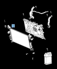 Radiateur de refroidissement moteur pour Jeep Compass