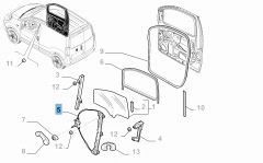 Lève-vitre électrique avant droit pour Fiat Professional Fiorino