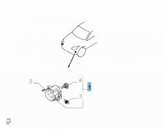 Antibrouillard avant gauche pour Fiat et Fiat Professional