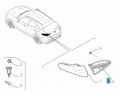 Feu arrière gauche mobile pour Alfa Romeo Stelvio