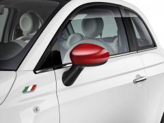 Coques de rétroviseurs rouge brillant pour Fiat 500