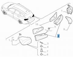Feu arrière gauche mobile pour Fiat et Fiat Professional