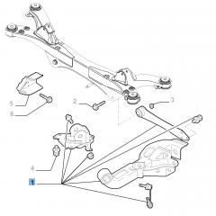 Bras oscillant gauche de suspension arrière pour Alfa Romeo