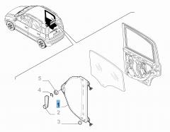 Lève-vitre arrière gauche pour Fiat et Fiat Professional