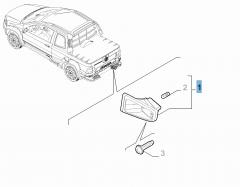 Feu de plaque gauche pour Fiat Professional Strada