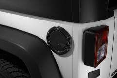 Bouchon de carburant noir satiné avec logo Jeep