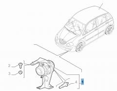 Antibrouillard droit pour Lancia Musa