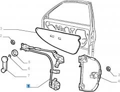 Lève-vitre gauche pour Fiat et Fiat Professional