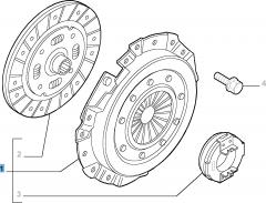 Kit embrayage (disque, plateau de pression et butée de débrayage) pour Lancia Ypsilon