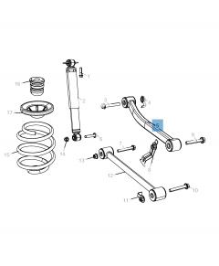 Bras oscillant de suspension arrière supérieure pour Jeep Wrangler
