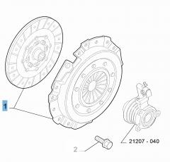 Kit embrayage (disque et plateau de pression) pour Abarth 500