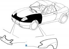 Aile avant gauche pour Fiat Barchetta (1995-2004)