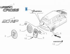 Sigle modèle Punto pour Fiat