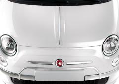 Protections chromées sur pare-chocs avant pour Fiat 500