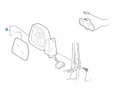 Rétroviseur gauche électrique pour Fiat Professional Scudo