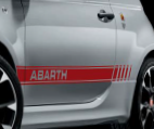 STICKERS LATERAUX ABARTH COLORIS ROUGE