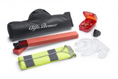 Kit de secours constitué d'un triangle et d'un gilet réfléchissant pour Alfa Romeo Giulietta