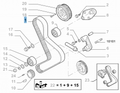 Courroie de distribution pour Fiat Professional Ducato