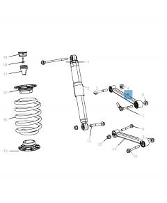 Bras oscillant de suspension arrière supérieure pour Jeep