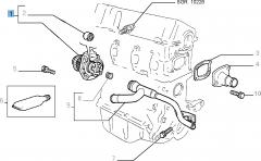 Pompe à eau avec joint pour Fiat et Fiat Professional