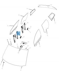 Lève-vitre avec 6 broches pour Fiat Freemont