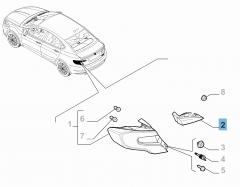 Feu arrière droit mobile pour Fiat et Fiat Professional