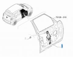 Lève-vitre avant gauche pour Fiat 500L