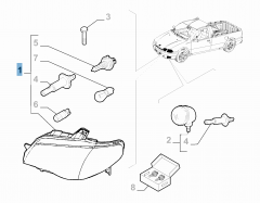 Projecteur avant droit pour Fiat Professional Strada