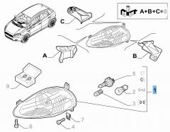 Projecteur avant droit pour Fiat et Fiat Professional