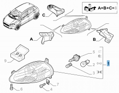 Projecteur avant gauche pour Fiat et Fiat Professional