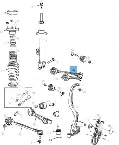 Bras oscillant de suspension avant supérieure pour Lancia Thema