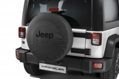 Couvre roue de secours avec logo Jeep noir
