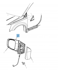 Rétroviseur pour Lancia Voyager