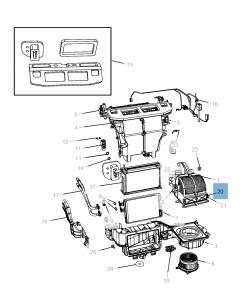 Filtre à air d'habitacle pour Lancia Voyager