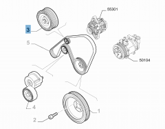 Tendeur de courroie fixe pour Alfa Romeo