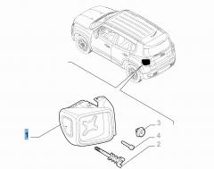 Feu arrière droit fixe pour Jeep Renegade