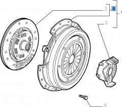 Kit embrayage (disque et plateau de pression) pour Alfa Romeo