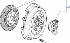 Kit embrayage (disque, plateau de pression et butée de débrayage) pour Fiat et Fiat Professional