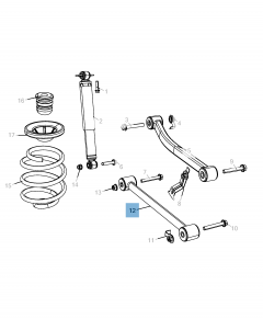 Bras oscillant de suspension arrière inférieure pour Jeep Wrangler