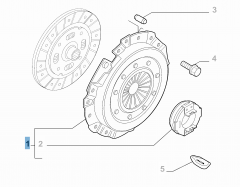 Kit embrayage (plateau de pression et butée de débrayage) pour Fiat Professional Ducato
