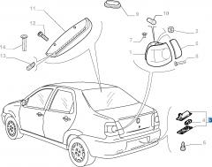 Feu de plaque pour Fiat