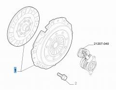 Kit embrayage (disque et plateau de pression) pour Fiat et Fiat Professional